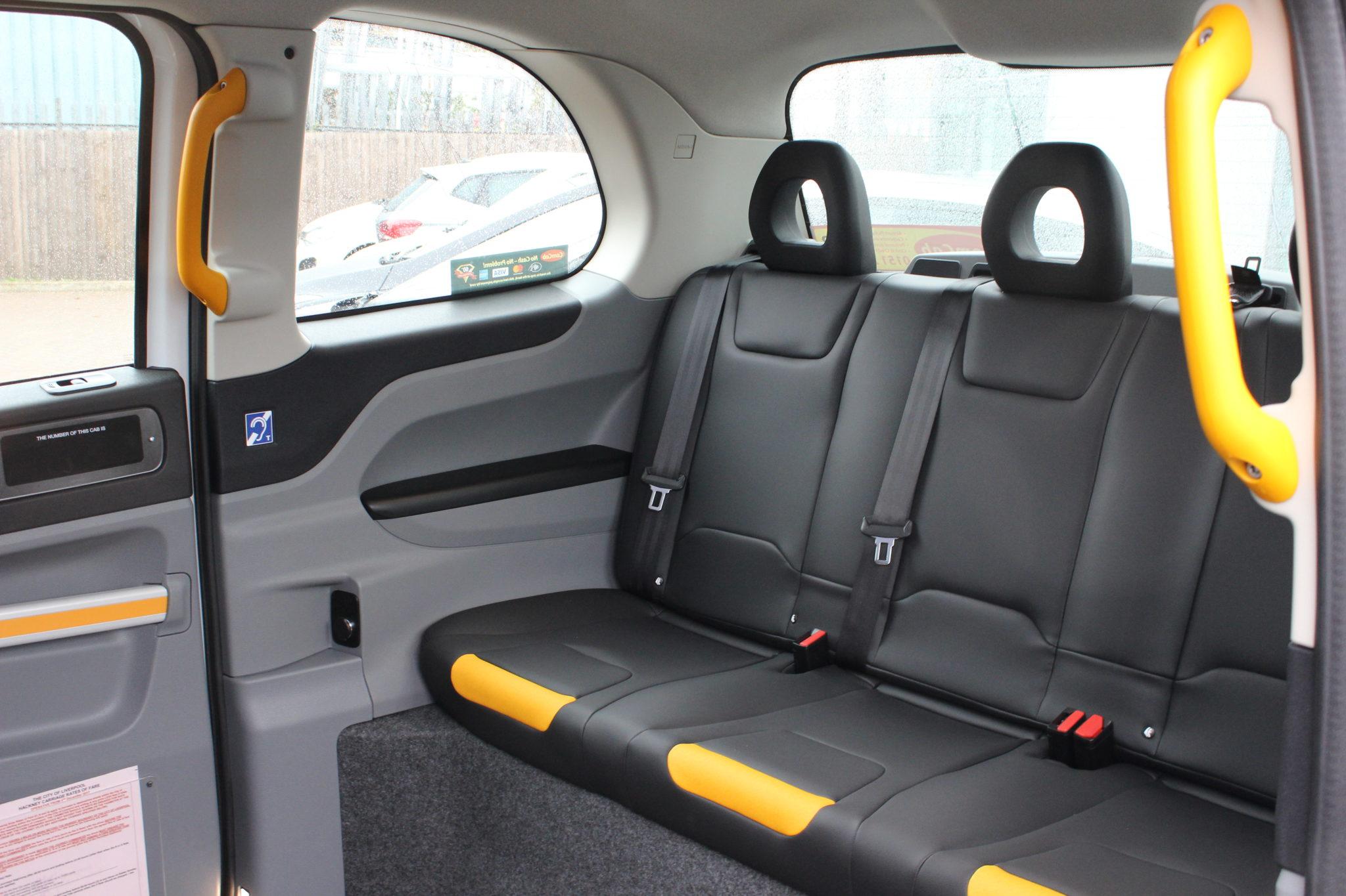 Electric Black Cab passenger seats